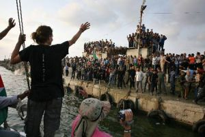 free gaza boat arrives