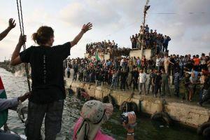 free gaza boat arrives